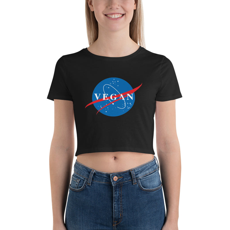 Nasa Spin-Off Women's Crop Tee in Black