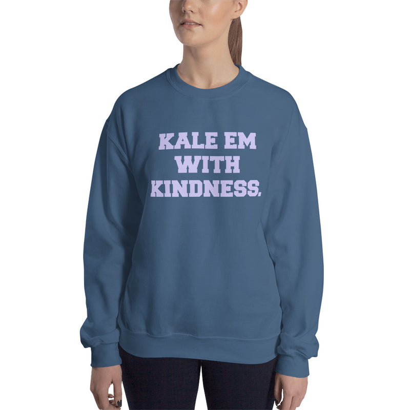 Kale Em With Kindness Lavender Print Unisex Sweatshirt
