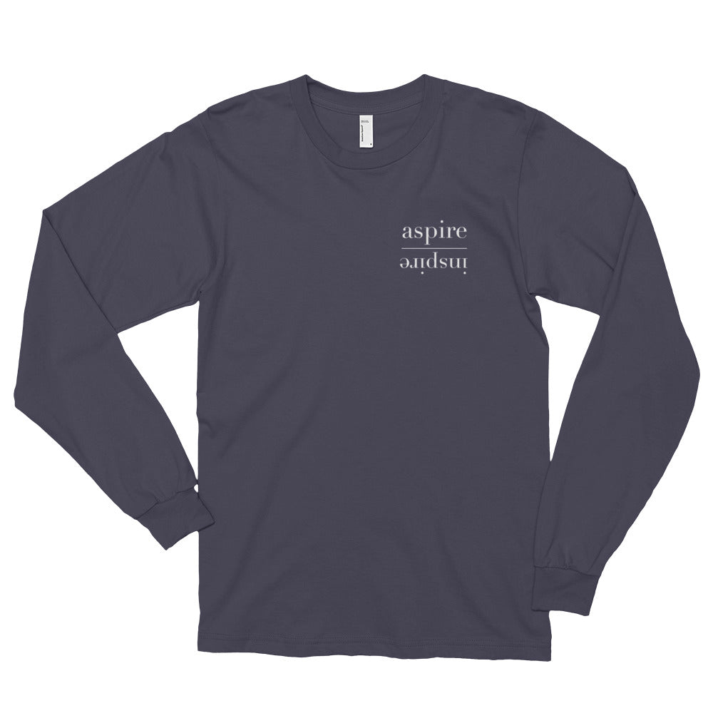 Aspire Inspire Long Sleeve Black Unisex Tee