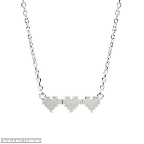 8bit Heart Choker Necklace