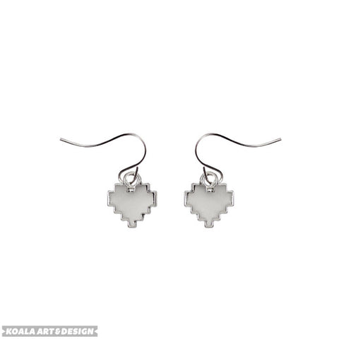 8Bit Heart Earrings