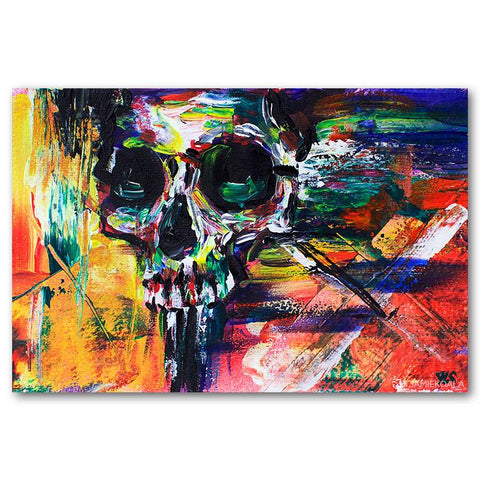 Expression Skull Canvas Print 24x36 inch