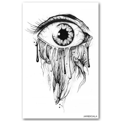 Dripping Eye Print