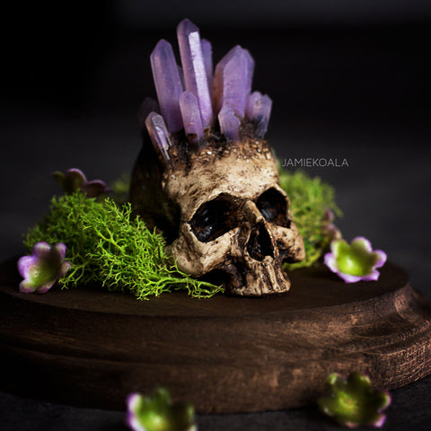 Amethyst Skull (Thermo Color Change)