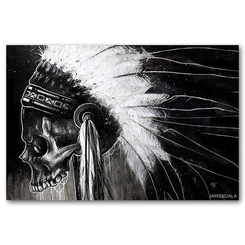 Haunted Spirit Skull Print