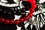 Red Glass Key Bracelet