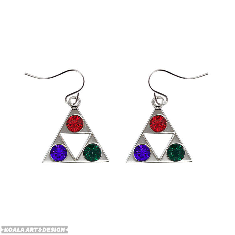 Tri-Color Triforce Earrings