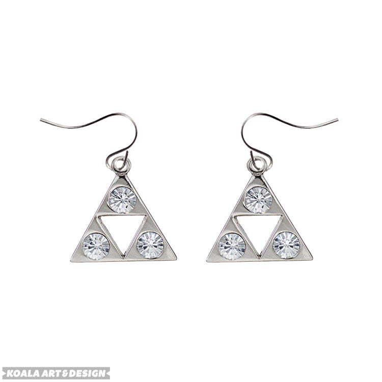 Crystal Triforce Earrings