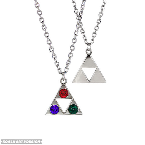 Tri-Color Triforce Necklace