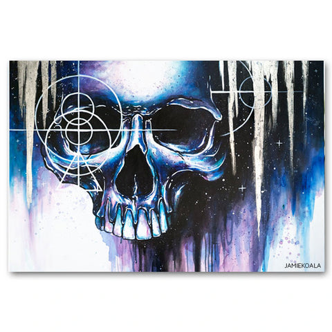 20x30 Haunted Spirit Skull Print