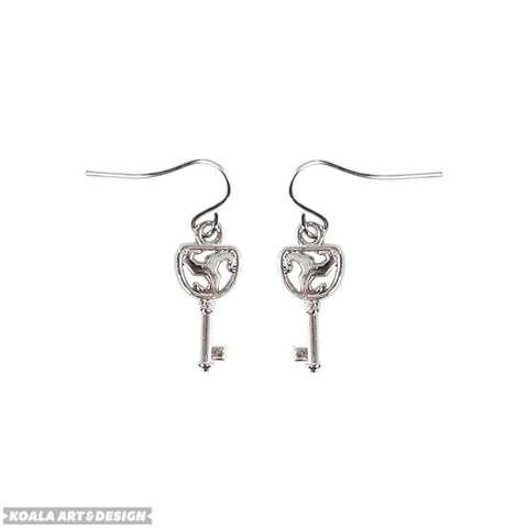 Triskelion Key Earrings
