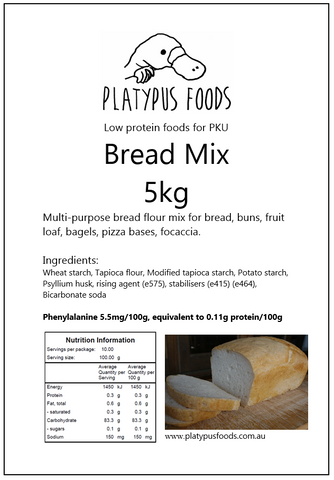 Platypus Foods Bread Mix 5kg