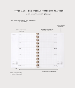 2019/20 Weekly Notebook Planner - Planners + Calendars - Appointed