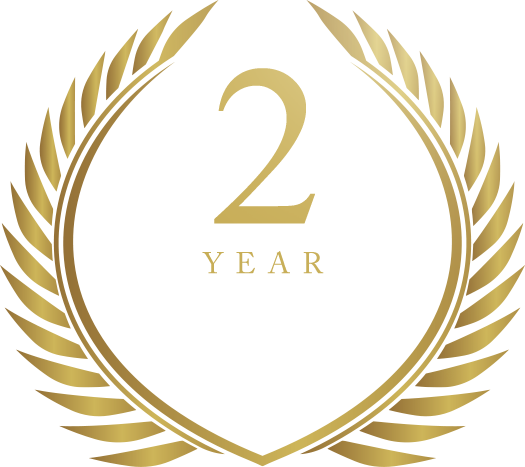 2 Year Worldwide Warranty