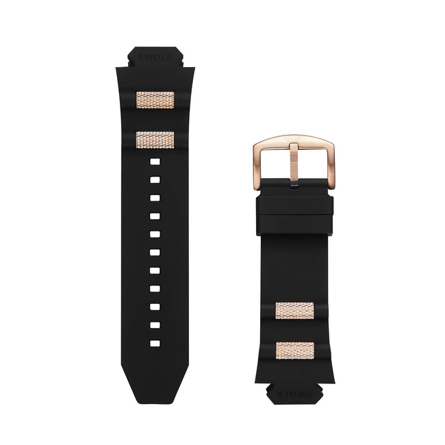 Band Kit - Black with Rosegold Buckle for Original 50mm