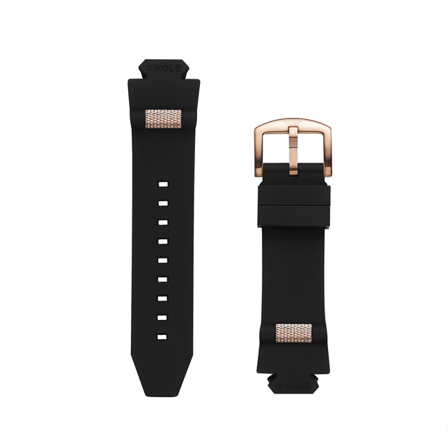 SWOLE Band Kit - Black with Rosegold Buckle for Original 43mm