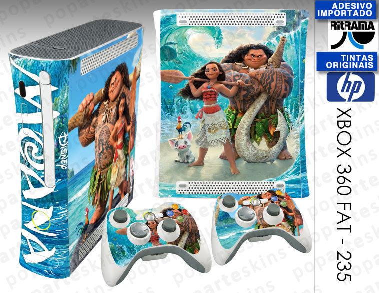 XBOX 360 FAT SKIN - Moana Disney