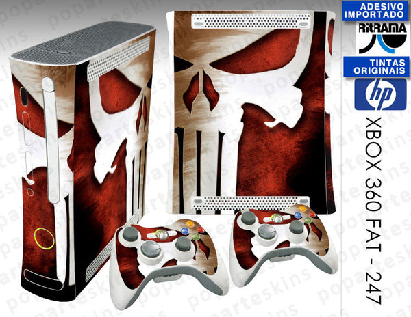 XBOX 360 FAT SKIN - The Punisher Justiceiro