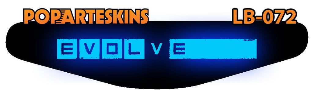 PS4 LIGHT BAR - PS4 Light Bar - Evolve - Pop Arte Skins Adesivos