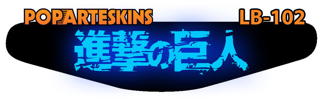 PS4 LIGHT BAR - PS4 Light Bar - Attack on Titan - Pop Arte Skins Adesivos