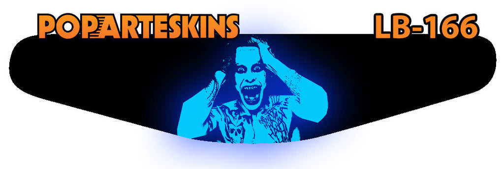 PS4 LIGHT BAR - PS4 Light Bar - Esquadrão Suicida Coringa - Pop Arte Skins Adesivos
