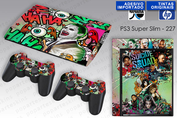 PS3 SUPER SLIM SKIN - PS3 SUPER SLIM SKIN - Esquadrão Suicida - Pop Arte Skins Adesivos