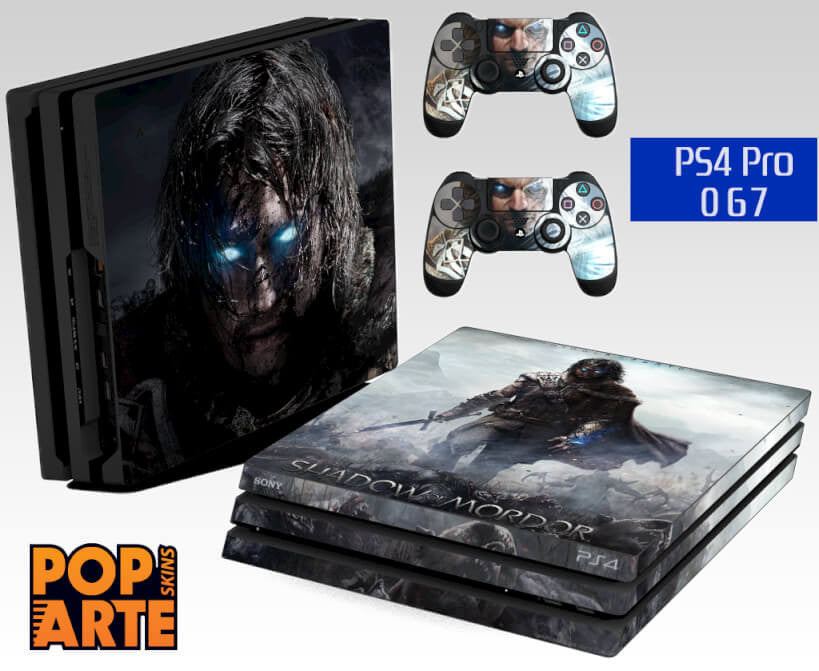 PS4 PRO SKIN - Middle Earth Shadow Of Mordor