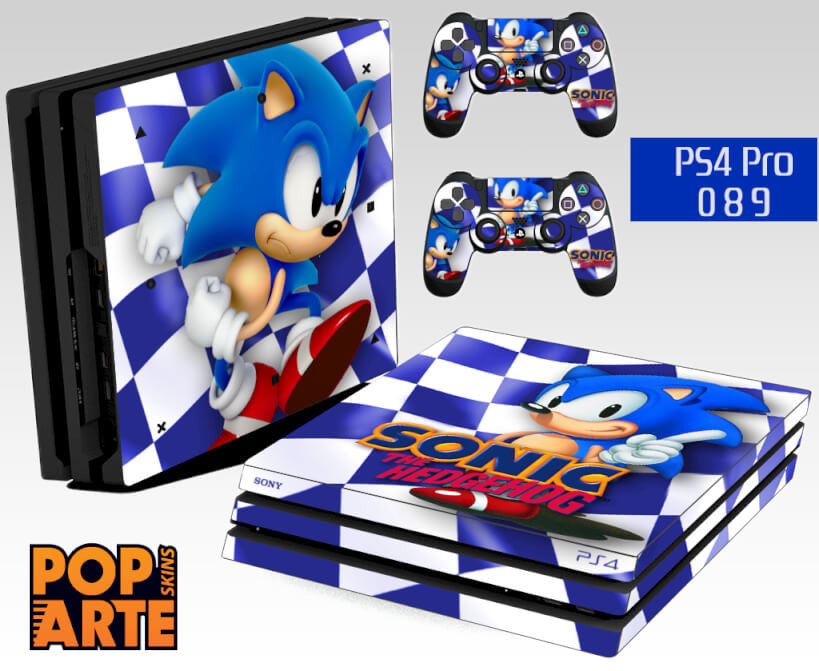PS4 PRO SKIN - Sonic The Hedgehog