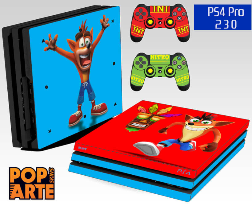 PS4 PRO SKIN - Crash Bandicoot