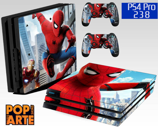 PS4 PRO SKIN - Homem Aranha - Spiderman homecoming