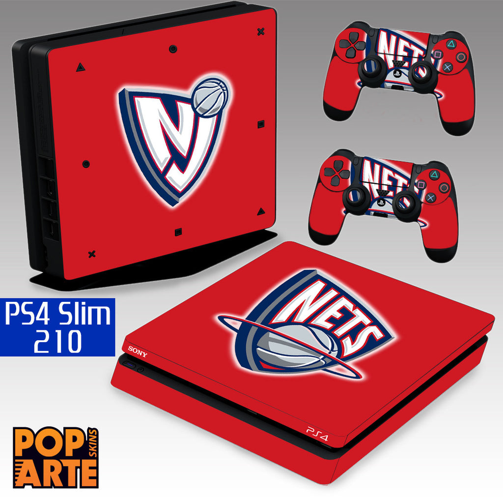 PS4 SLIM SKIN - New Jersey Nets - Basquete