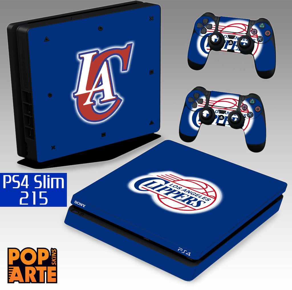 PS4 SLIM SKIN - Los Angeles Clippers - Basquete