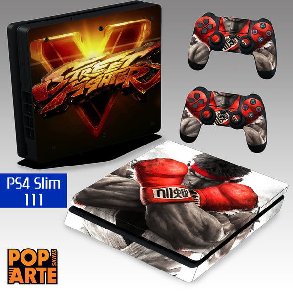 PS4 SLIM SKIN - PS4 SLIM SKIN - Street Fighter V - Pop Arte Skins Adesivos