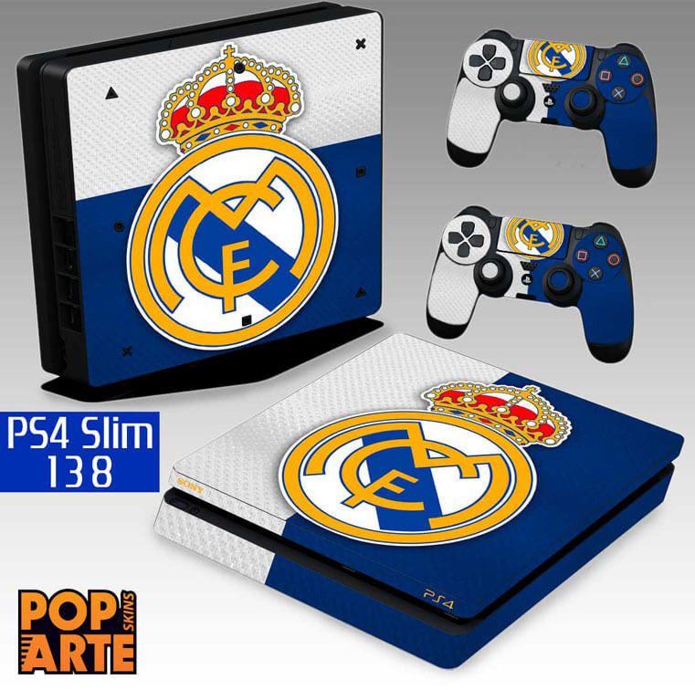 PS4 SLIM SKIN - PS4 SLIM SKIN - Real Madrid FC - Pop Arte Skins Adesivos