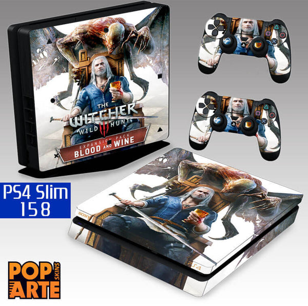 PS4 SLIM SKIN - PS4 SLIM SKIN - The Witcher 3: Wild Hunt - Blood and Wine - Pop Arte Skins Adesivos