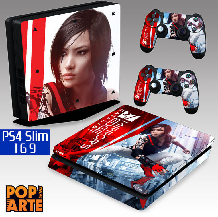 PS4 SLIM SKIN - PS4 SLIM SKIN - Mirror's Edge Catalyst - Pop Arte Skins Adesivos