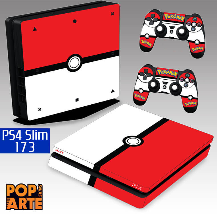 PS4 SLIM SKIN - PS4 SLIM SKIN - Pokemon - Pop Arte Skins Adesivos