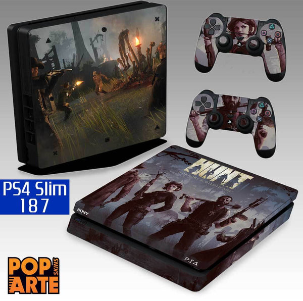 PS4 SLIM SKIN - PS4 SLIM SKIN - Hunt: Horrors of the Gilded Age - Pop Arte Skins Adesivos