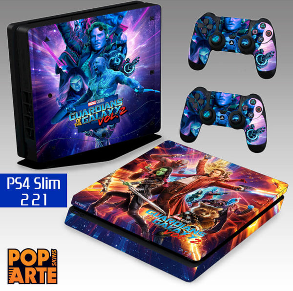 PS4 SLIM SKIN - Guardiões da Galáxia Vol. 2