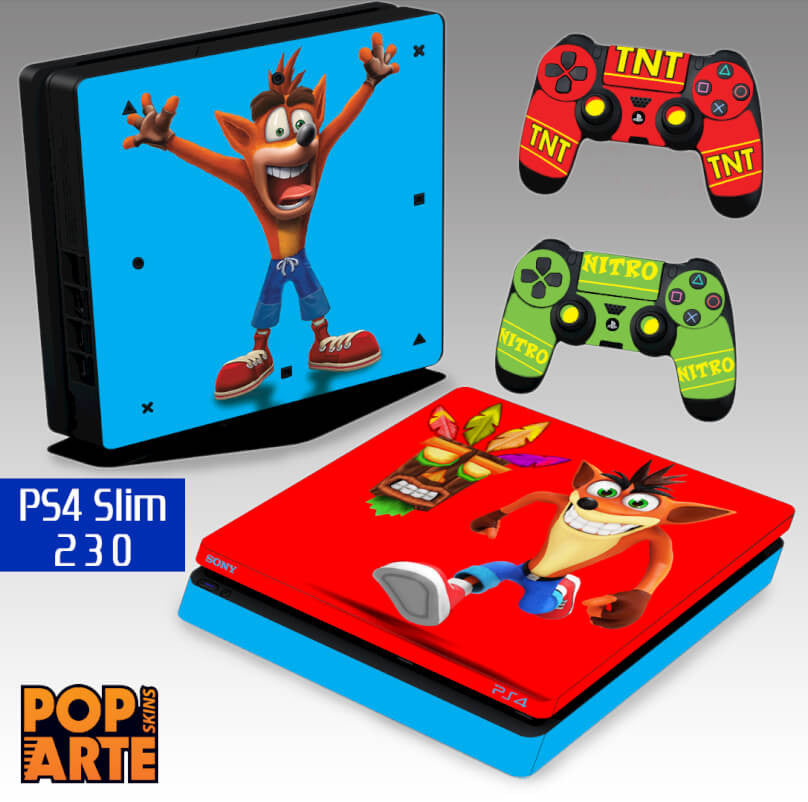 PS4 SLIM SKIN - Crash Bandicoot