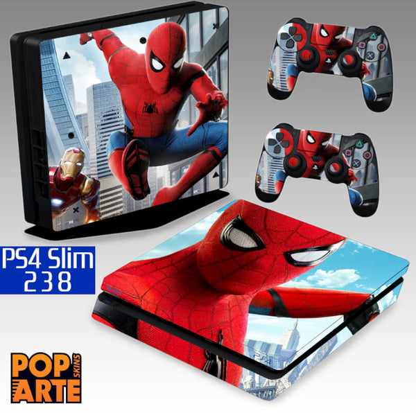 PS4 SLIM SKIN - Spiderman - Homem Aranha homecoming