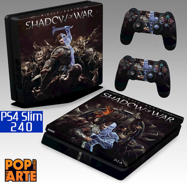 PS4 SLIM SKIN - Shadow of War