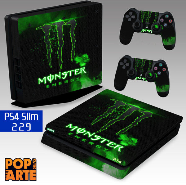 PS4 SLIM SKIN - Monster Energy Drink