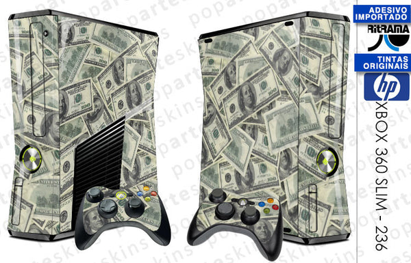 XBOX 360 SLIM SKIN - Dollar Money $$$