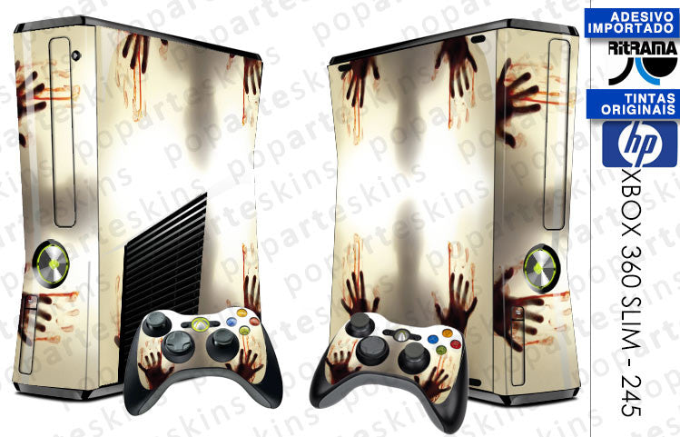 XBOX 360 SLIM SKIN - Fear The Walking Dead
