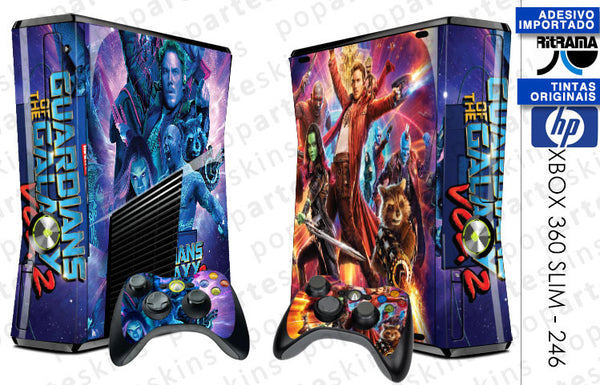 XBOX 360 SLIM SKIN - Guardiões da Galáxa Vol 2