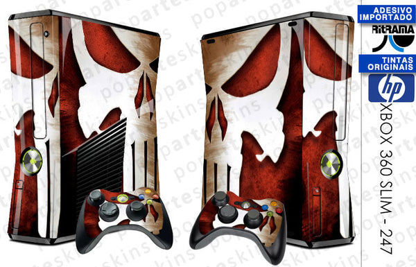 XBOX 360 SLIM SKIN - The Punisher Justiceiro