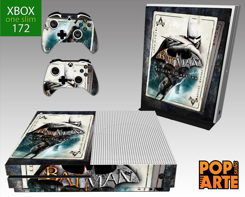 XBOX ONE SLIM SKIN - Batman Return to Arkham