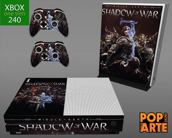 XBOX ONE SLIM SKIN - Shadow of War