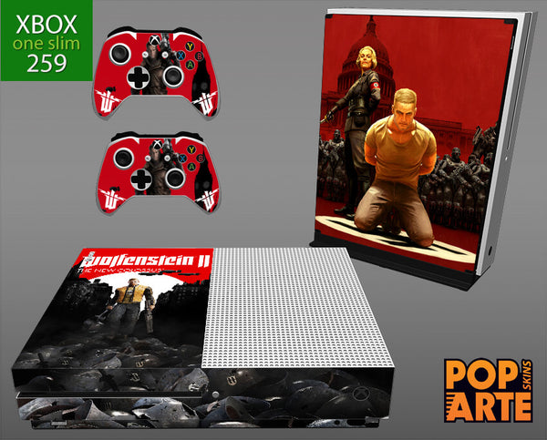XBOX ONE SLIM SKIN - Wolfenstein 2 New Order